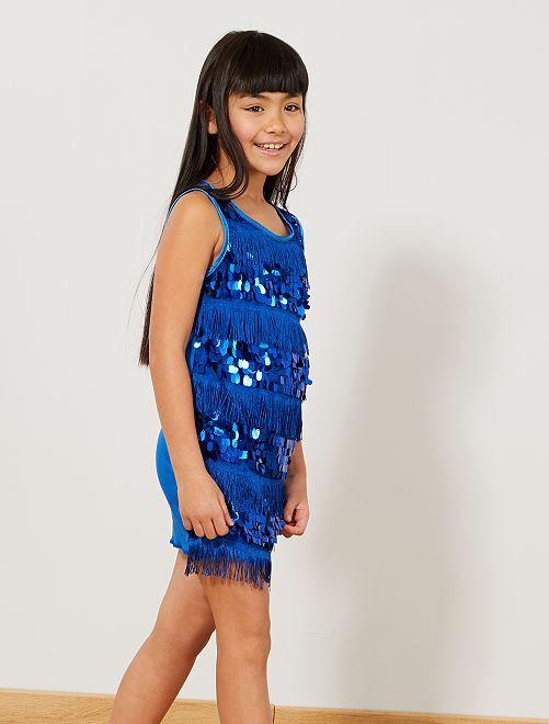 Disfraz de charlestón para niña                                                                 azul Niños