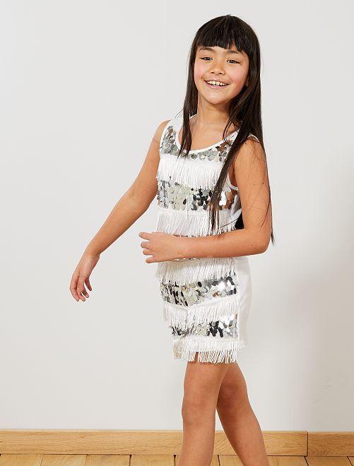 Disfraz de charlestón para niña                                             blanco