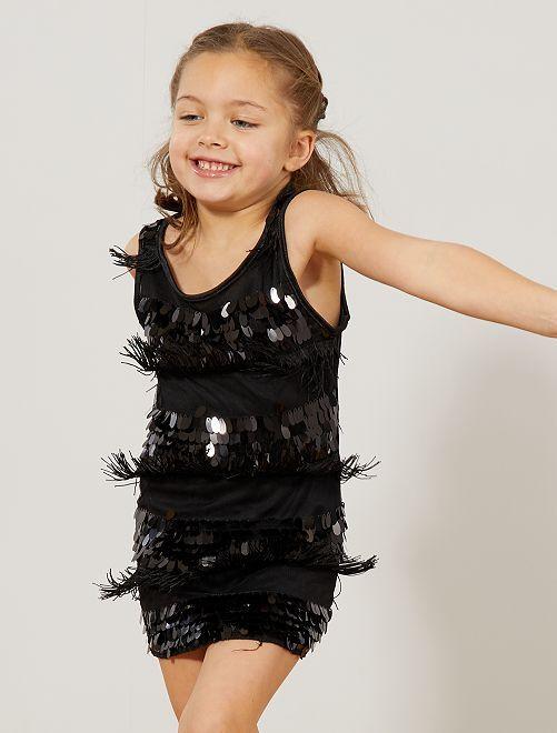 Disfraz de charlestón para niña                                                     negro