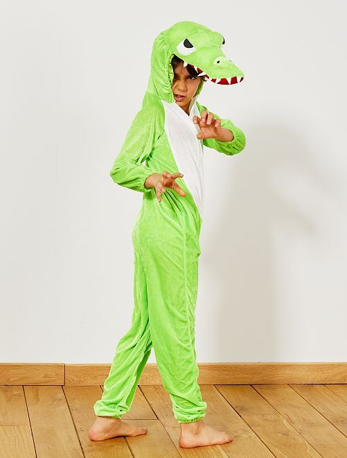 Disfraz de cocodrilo                             verde Niños