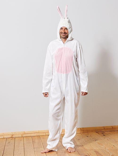 Disfraz de conejo                             blanco/rosa/