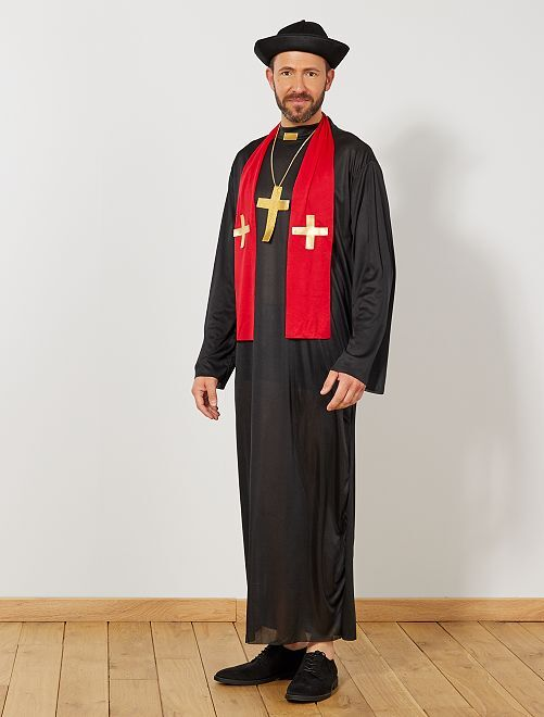 Disfraz de cura                             negro