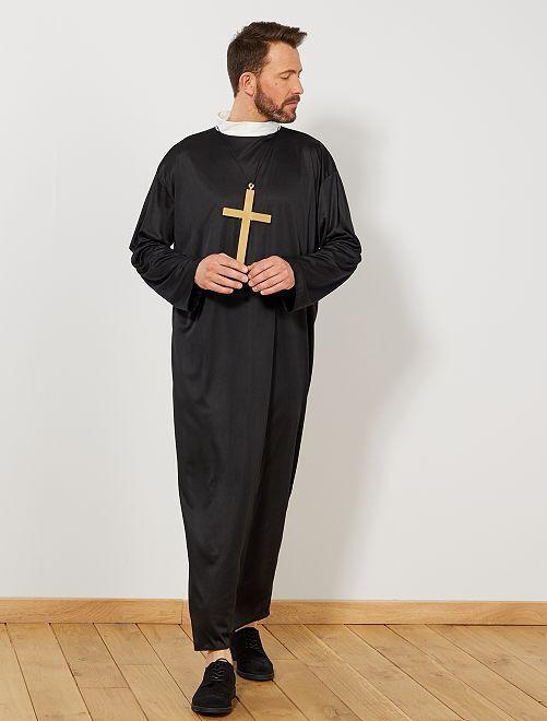 Disfraz de cura                             negro Hombre