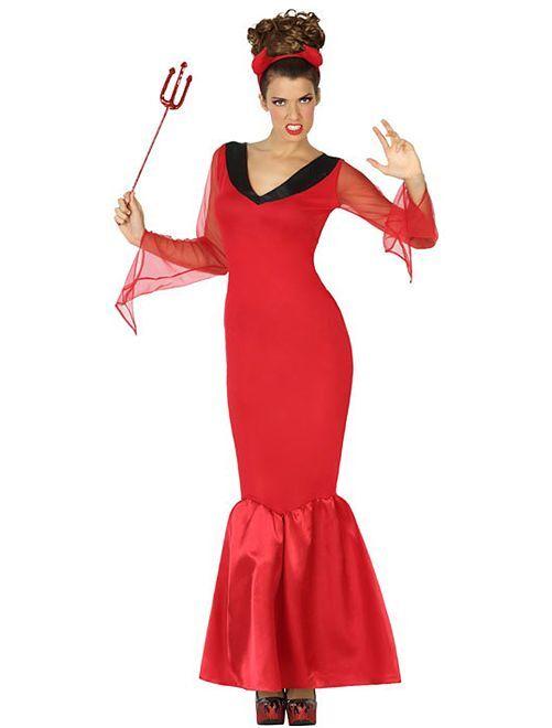 Disfraz de diablesa                             rojo/negro