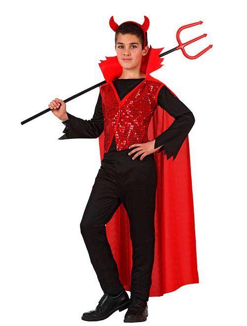Disfraz de diablo                             rojo/negro