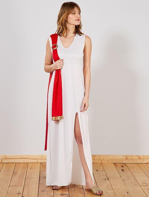 Disfraz de diosa                             blanco/rojo