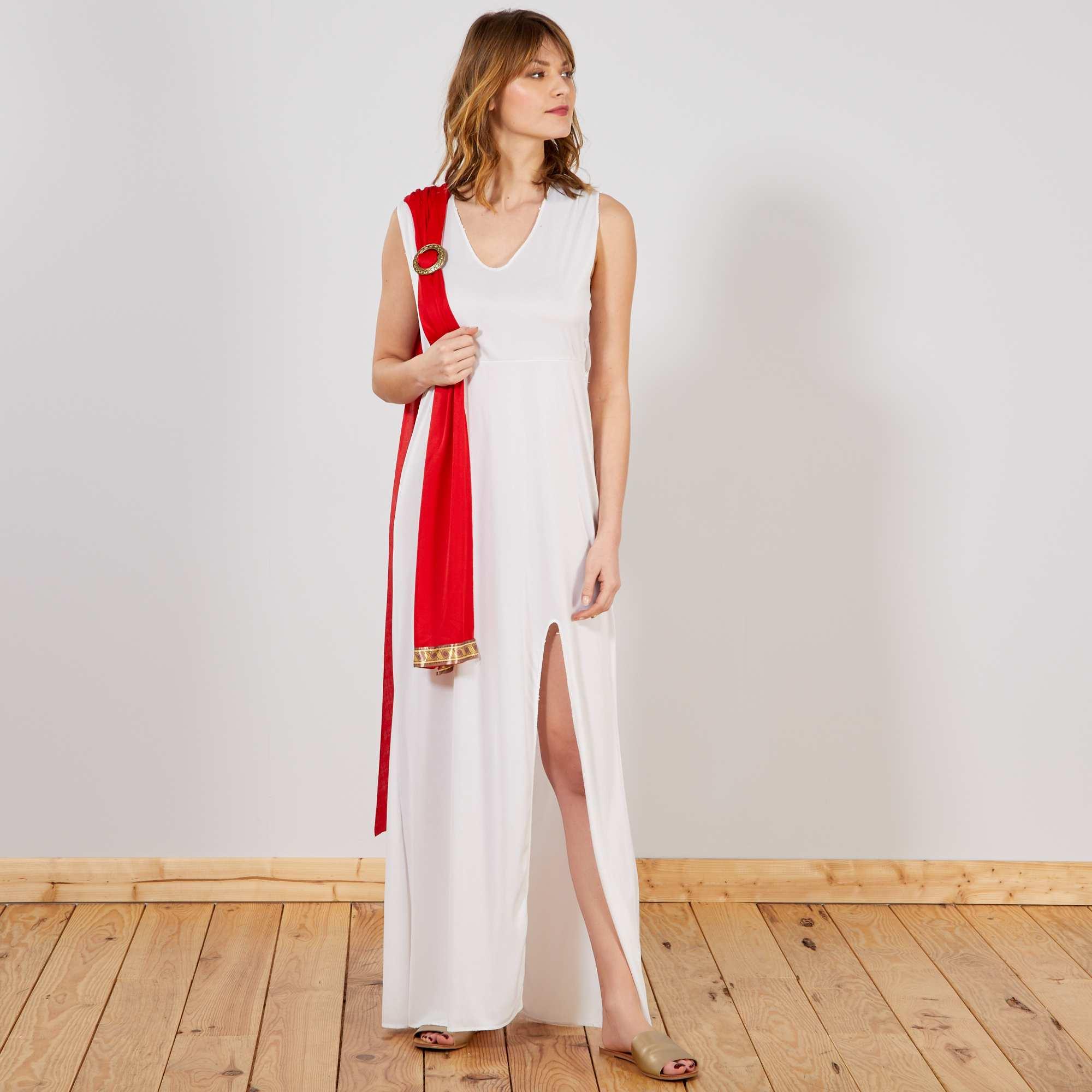 disfraz de diosa mujer blanco rojo kiabi 19 00. Black Bedroom Furniture Sets. Home Design Ideas