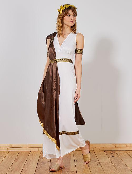 Disfraz de diosa griega                             blanco Mujer