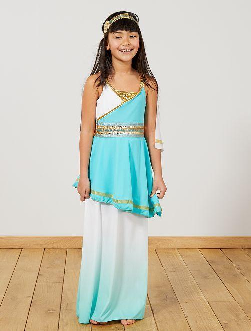 Disfraz de diosa griega                             blanco/azul Niños