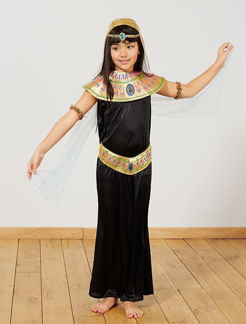 Disfraz de egipcia                             negro Niños