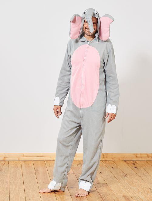 Disfraz de elefante                             gris
