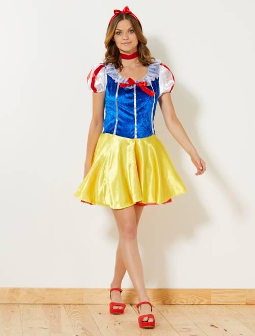 Disfraz de Elsa                             amarillo Mujer