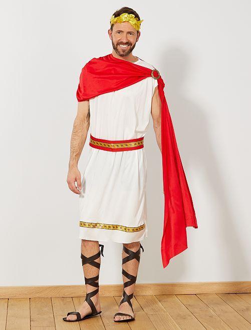 Disfraz de emperador romano                             blanco/rojo/dorado
