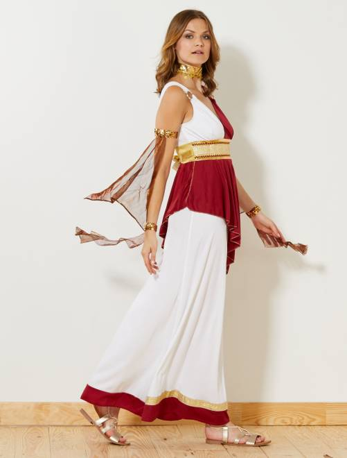 Disfraz de emperatriz romana                             blanco/rojo/dorado