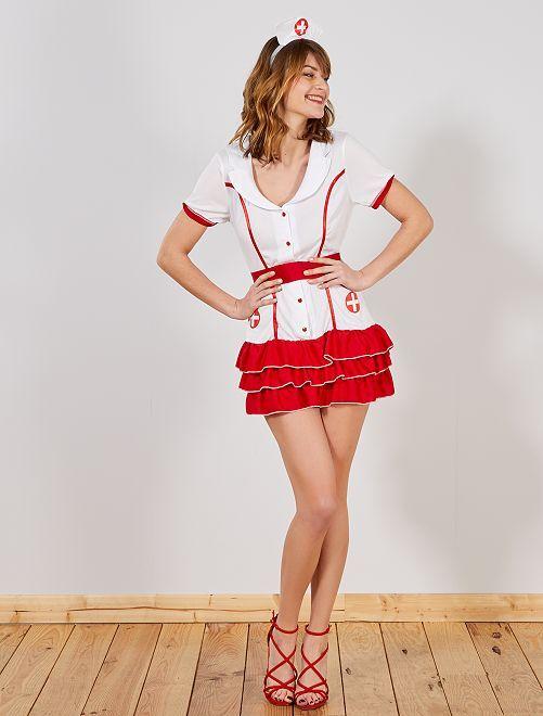 Disfraz de enfermera                             BLANCO Mujer