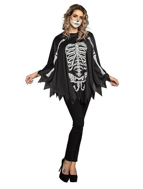 Disfraz de esqueleto                             negro/blanco