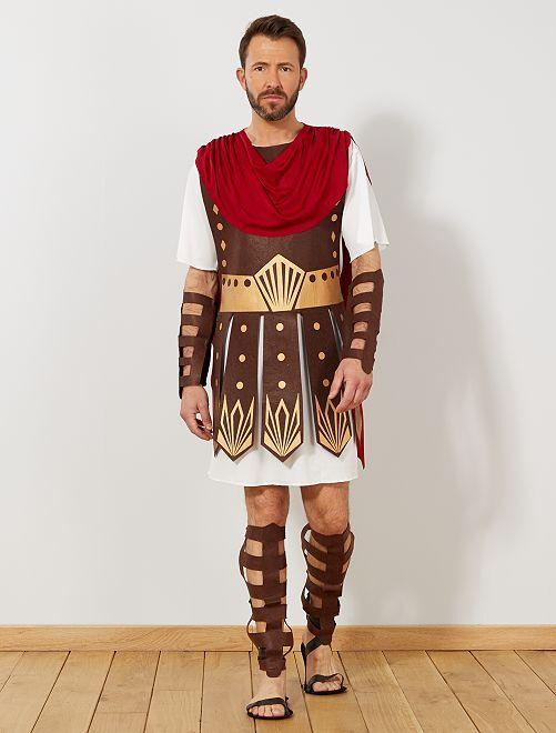 Disfraz de gladiador                             rojo/blanco
