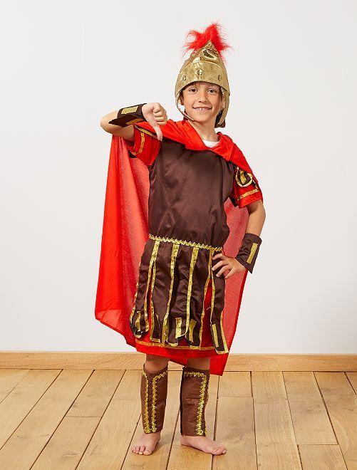 Disfraz de gladiador romano                             marrón/rojo