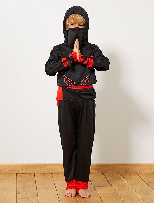 Disfraz de guerrero ninja                             negro/rojo