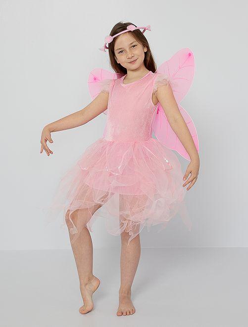Disfraz de hada                             rosa