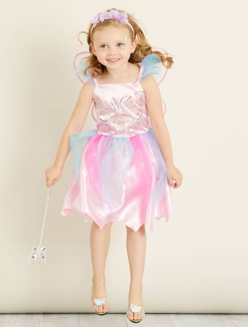 Disfraz de hada                             rosa/azul Niños