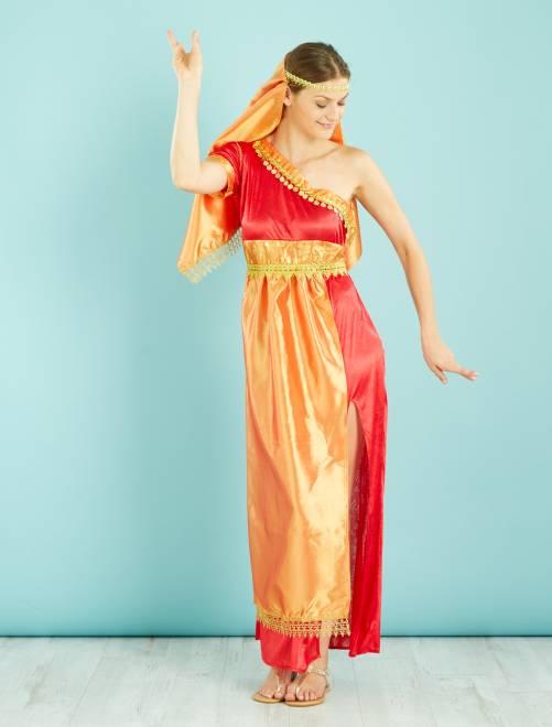 Disfraz de hindú                             naranja