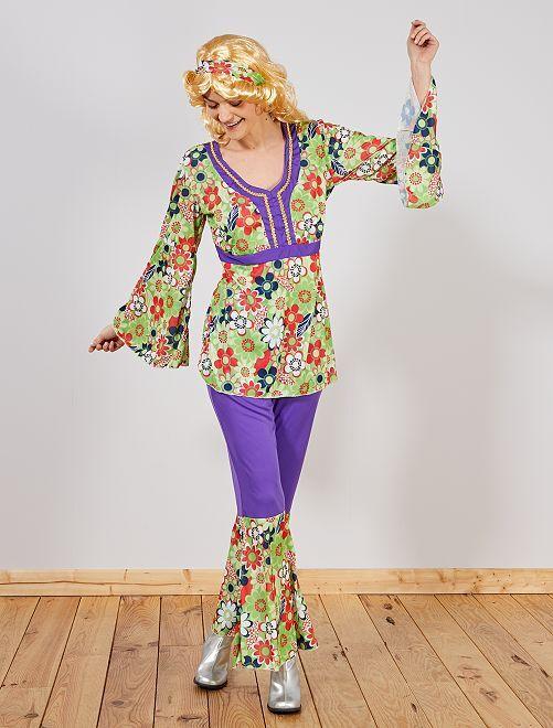 Disfraz de 'hippy'                             verde