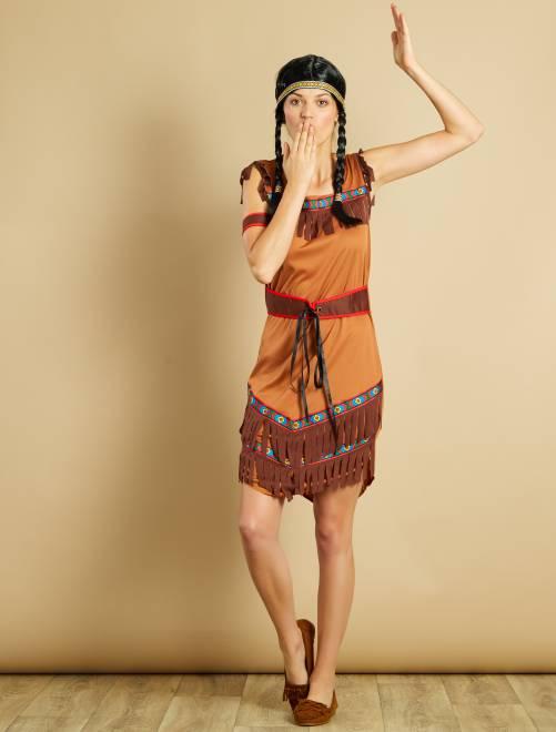 Disfraz de india                             marron