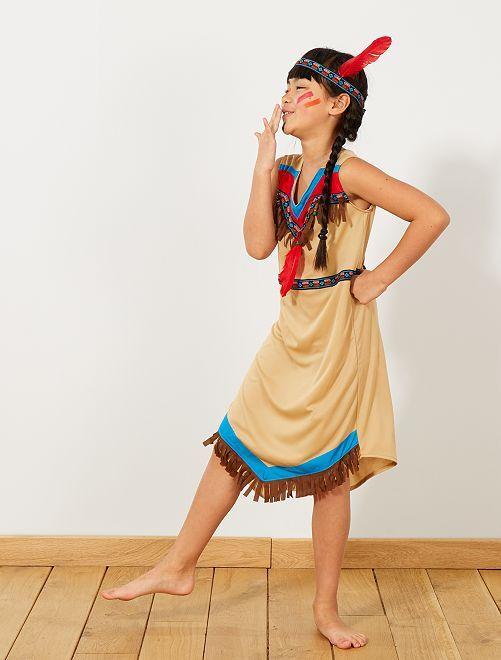 Disfraz de india                             marrón Niños