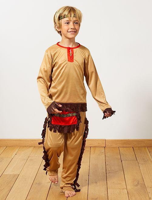 Disfraz de indio                             marrón Niños