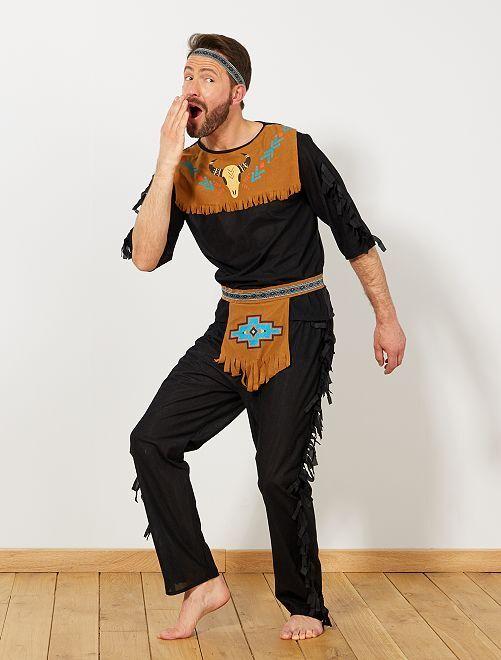 Disfraz de indio                             negro