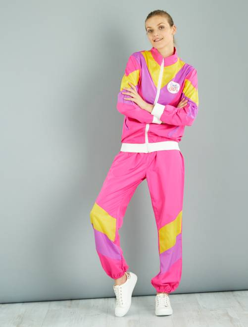 Disfraz de jogging años 80                             blanco