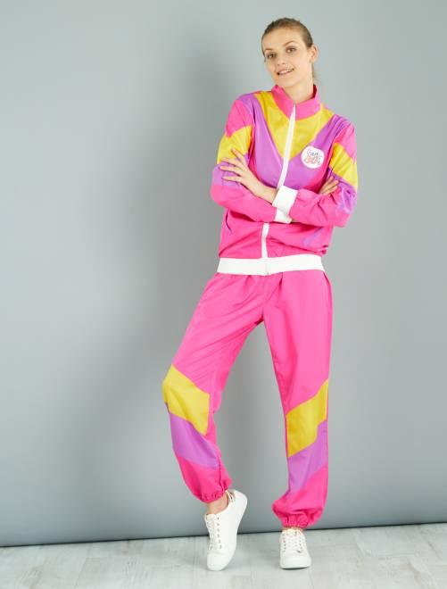 Disfraz de jogging años 80                             blanco Mujer