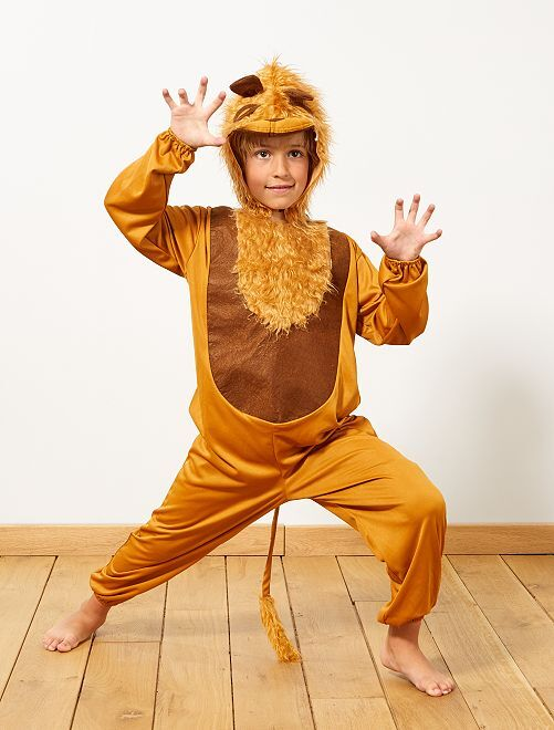 Disfraz de león                             marrón Niños