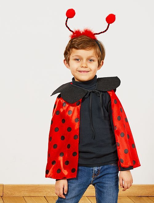 Disfraz de mariquita                             rojo/negro