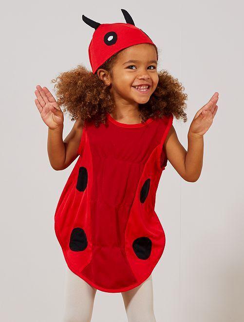 Disfraz de mariquita                             rojo/negro Niños
