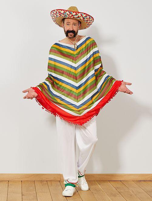 Disfraz de mexicano                             multicolor