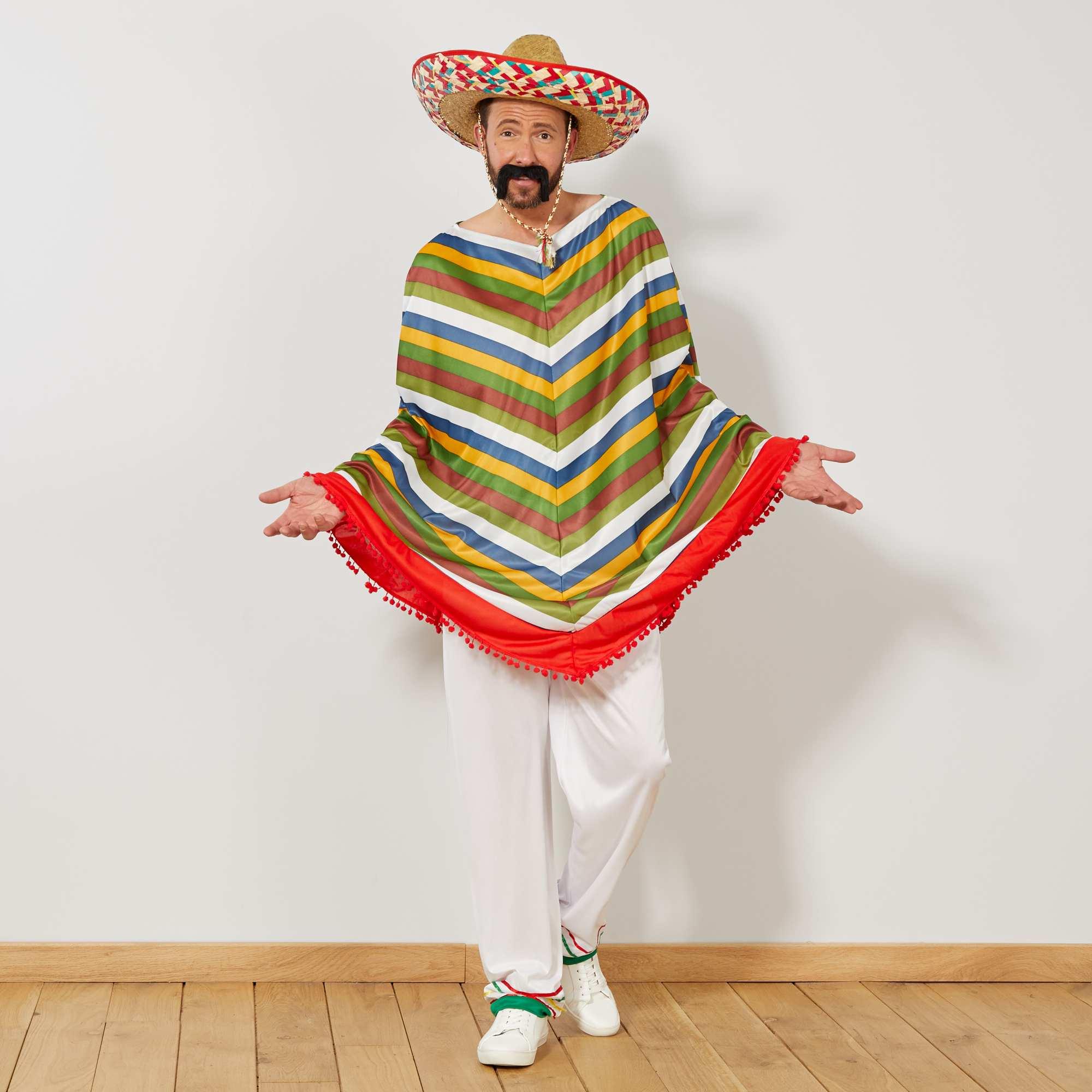 Disfraz de mexicano multicolor Hombre. Loading zoom