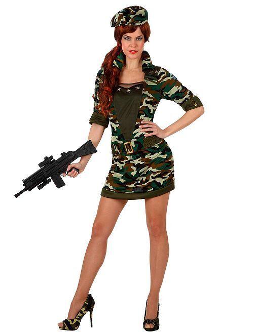 Disfraz de militar                             verde