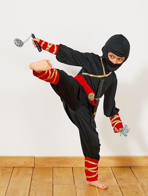 Disfraz de ninja + accesorios                             negro/rojo