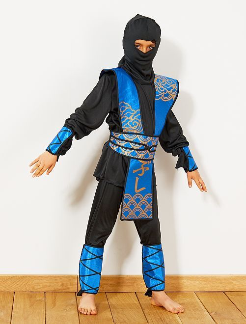 Disfraz de ninja azul                             azul/negro