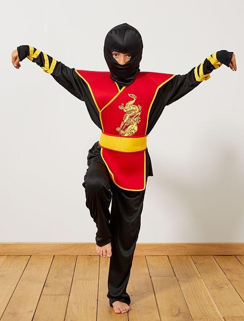 Disfraz de ninja                             negro/rojo Niños