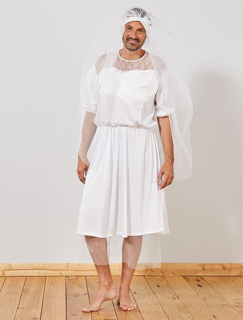 Disfraz de novia                             blanco