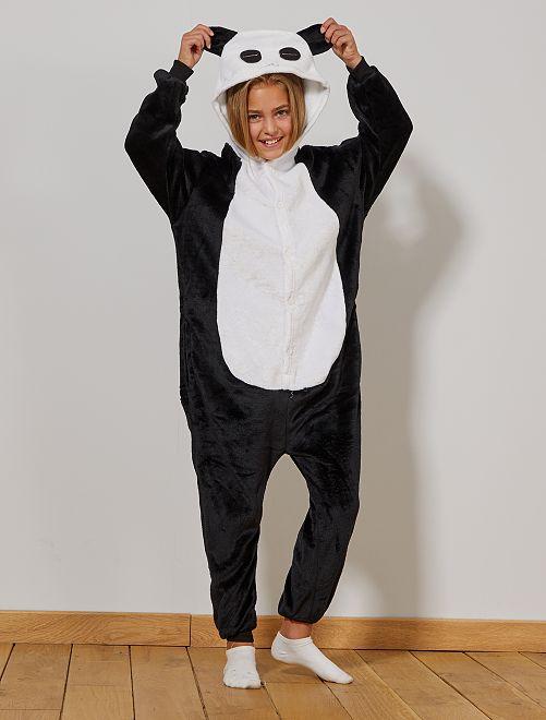 Disfraz de oso panda                             negro/blanco Niños