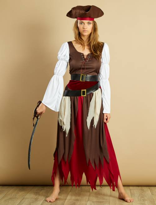 Disfraz de pirata                             marron