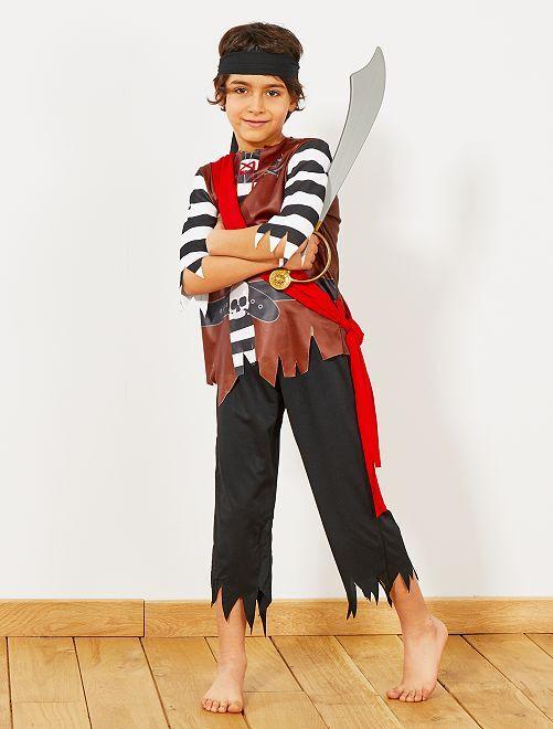 Disfraz de pirata                             negro Niños