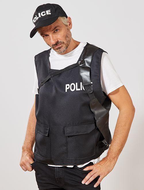 Disfraz de policía                             negro