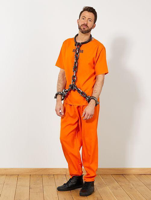 Disfraz de preso de EE UU                             naranja