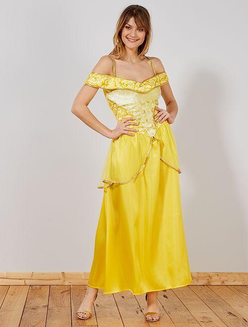 Disfraz de princesa                             amarillo
