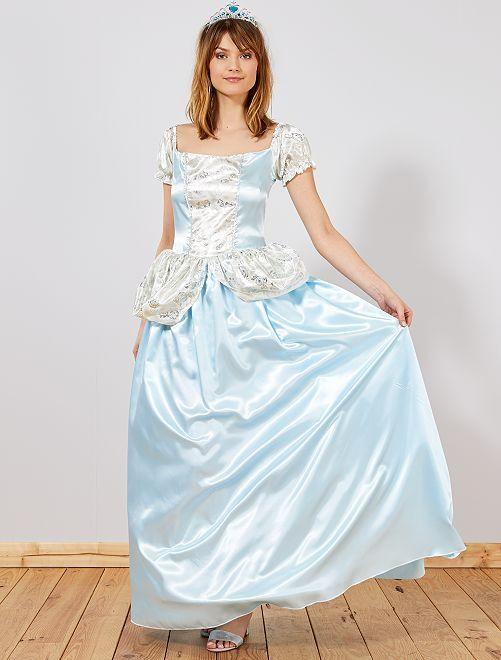 Disfraz de princesa azul                             azul